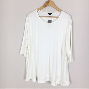 J. Jill Wearever Collection Ivory Stretch Top
